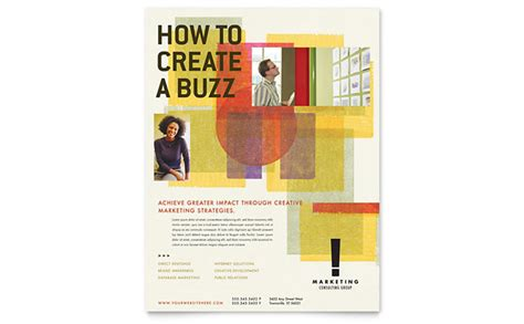 marketing consultant flyer template design