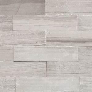 Shop 9 pcs/sq ft Athens Gray 2x8 Brushed Stone Tile at