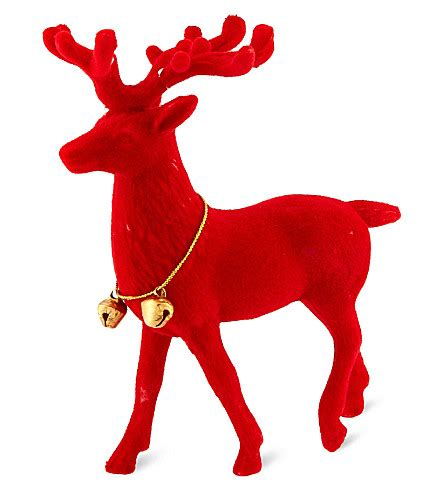 talking tables flocked reindeer ornament selfridges com