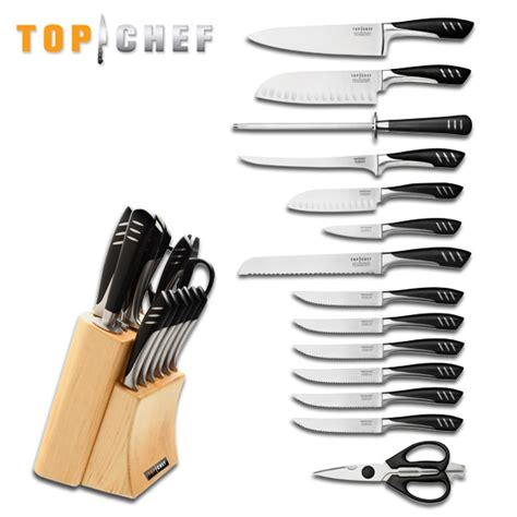 best professional kitchen knives wholesale lot 2 sets top chef professional 15 piece knives stainless kitchen set ebay
