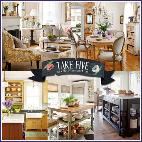 take five country cottage french decorating ideas