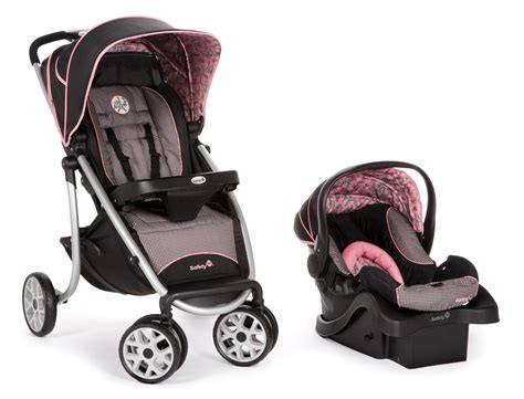 Safety 1st Aerolite Sport Baby Travel System, Eiffel Rose