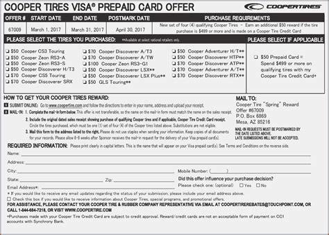 goodyear tire rebate form pdf form resume exles