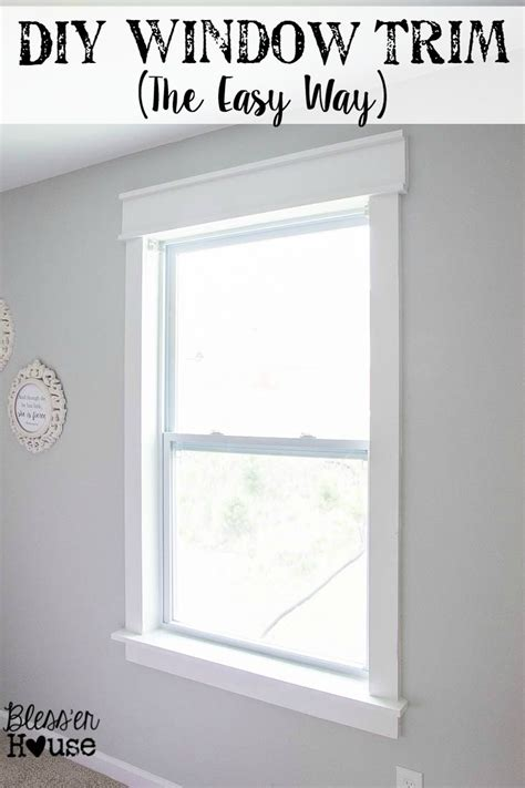 creative crown molding ideas house diy window trim the easy way