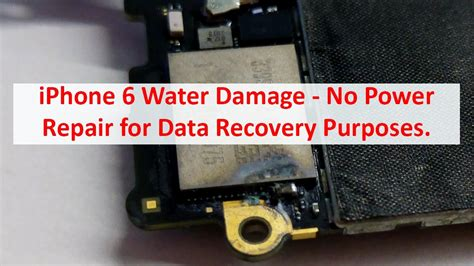 how to fix water damaged iphone 6 apple iphone 6 water damage no power repair for data