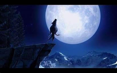 Howling Wolf Moon Wallpapers Werewolf Cave Desktop