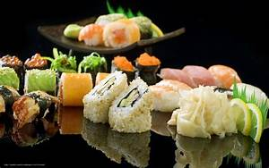 Download wallpaper sushi, Rolls, ginger, Shrimp free ...