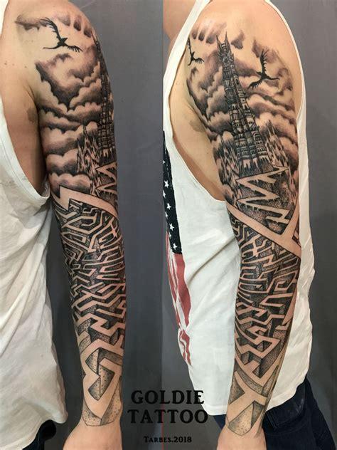 maori tribal goldie tattoo