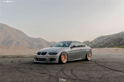 bmw m3 stanced bmw m3 e93 stanced on gold avant garde rims with polished