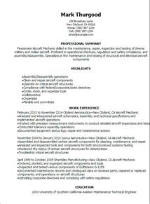 resume aircraft maintenance technician professional aircraft mechanic resume templates to showcase your talent myperfectresume