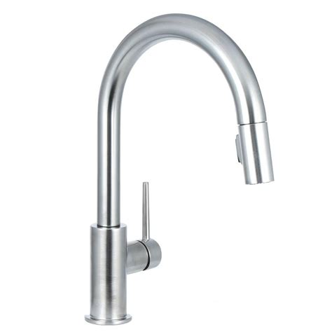 most reliable kitchen faucets delta brushed nickel pull kitchen faucet