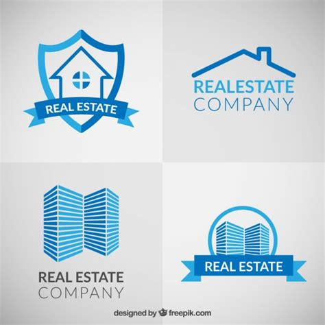 Blue Real Estate Logos Vector  Free Download