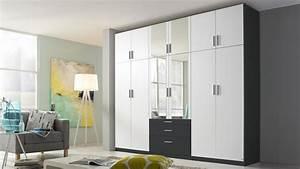 Kleiderschrank Weiß Grau : kleiderschrank hildesheim extra schrank in wei und grau mit spiegel ~ Buech-reservation.com Haus und Dekorationen