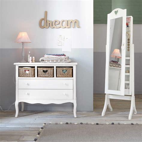 miroir psyché avec rangement blanc h 160 cm