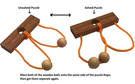 Two Lovers String Rope Ring Puzzle