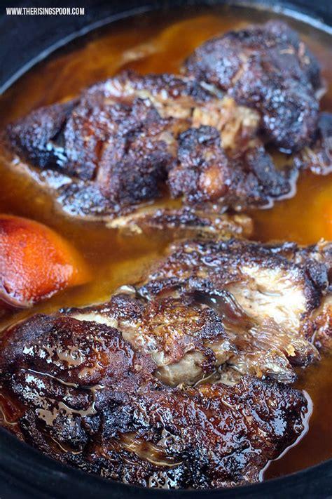 cooker pork shoulder slow cooker pork shoulder for pulled pork carnitas the rising spoon