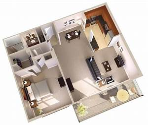 One, Bedroom, Apartments, With, Balcony