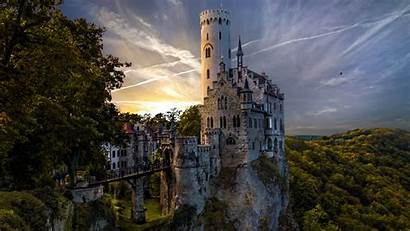 Castle Germany Forest Lichtenstein Liechtenstein Wallpapers Landscape