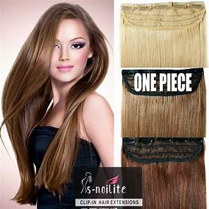 One Piece 5 Clips Remy Human Hair Extensions 34 Full Head