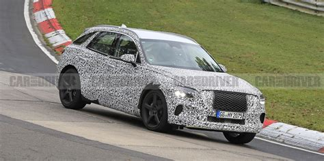 genesis gv compact luxury suv spied stretching  legs