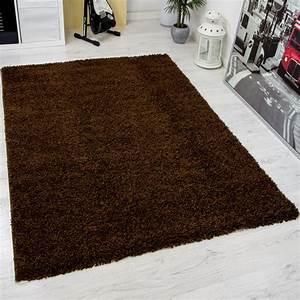 Teppich Wohnzimmer Modern : hochflor shaggy teppich modern wohnzimmer teppich unifarbe braun top preis ~ Sanjose-hotels-ca.com Haus und Dekorationen