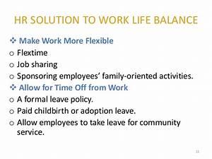 work life balance sample essay