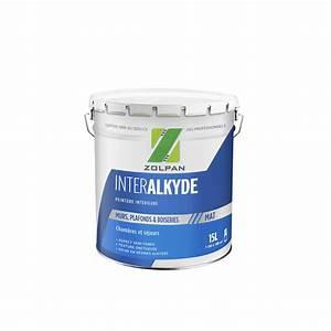 Leroy Merlin Peinture Blanche : peinture blanche mur plafond et boiserie zolpan mat 15 l ~ Dailycaller-alerts.com Idées de Décoration