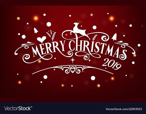 merry christmas day 2019 happy new year and vector image