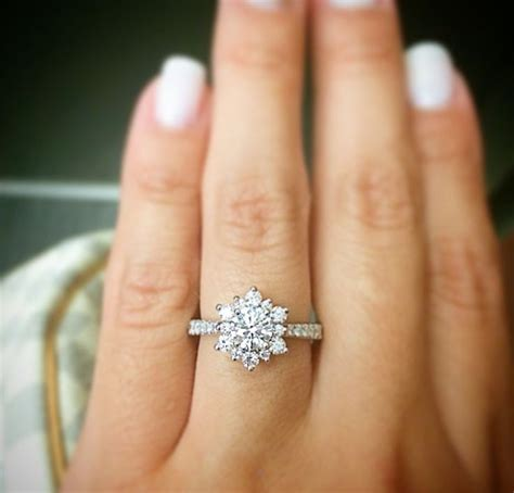25 best ideas about snowflake ring on