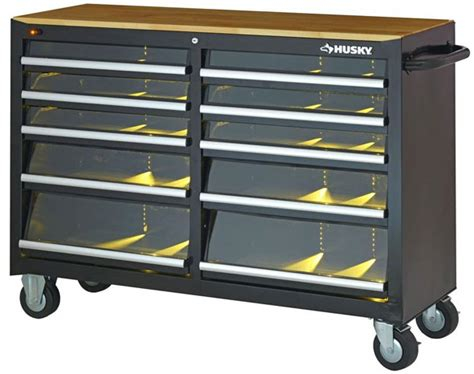 large tool chest new husky 52 tool cabinet with led lit drawers 3670