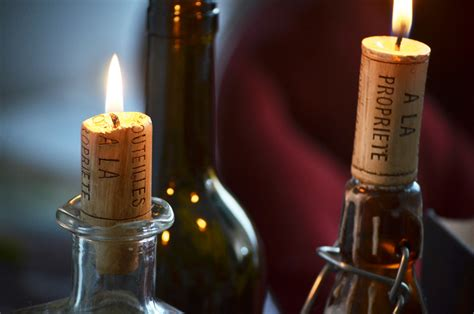 Candles For Home Decor: Home Decor Accent: Wine Cork Candles