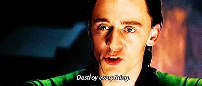 Loki He Gifs Decisive Everything Destroy Thor