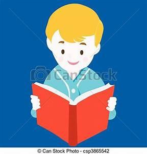 Child reading book - vector. Vector illustration:reading ...