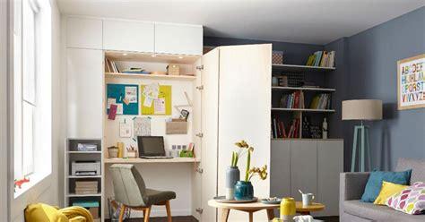bureau dans placard aménager un coin bureau dans un placard