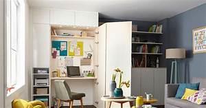 Aménager Un Placard : am nager un coin bureau dans un placard ~ Melissatoandfro.com Idées de Décoration