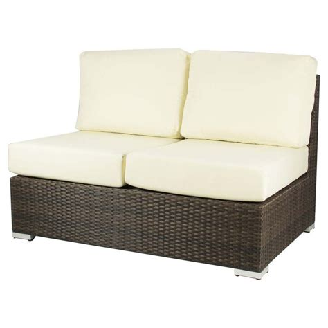 Outdoor Loveseats by Source Outdoor Lucaya Wicker Armless Seat Wicker