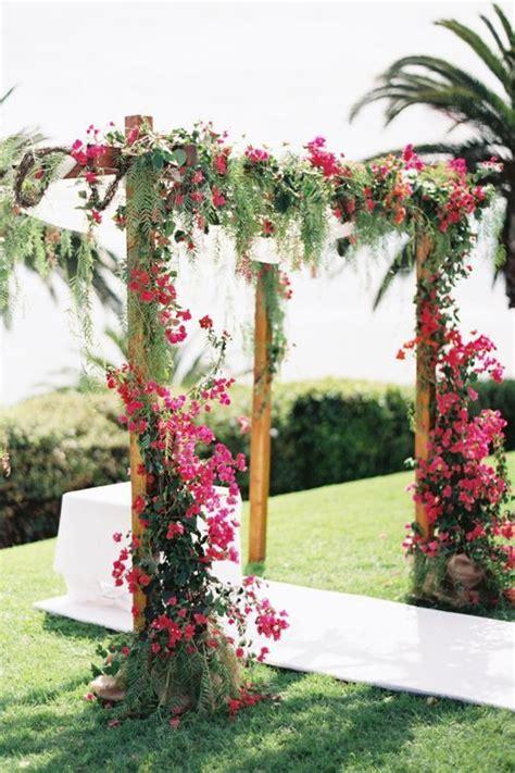 Bougainvillea Ceremony Canopy Fiji Wedding Flowers