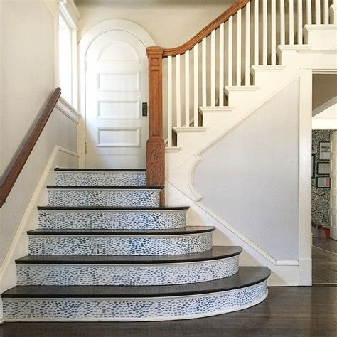 tile  stairs stairs  easy projects  pinterest