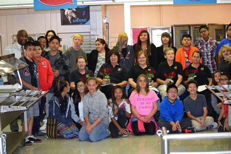 west lake jr high keyboarding students send letters to