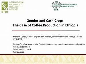 Gender and Cash Crops: The Case of Coffee Production in ...