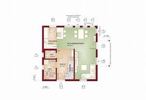 Küche Mit Kochinsel Grundriss : einfamilienhaus grundriss erdgeschoss modern offene k che mit kochinsel fertighaus solution ~ Michelbontemps.com Haus und Dekorationen