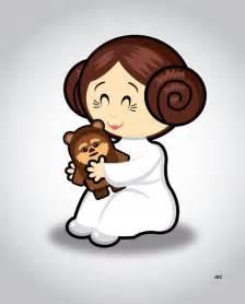 Cartoons Star Wars Princess Leia and Luke