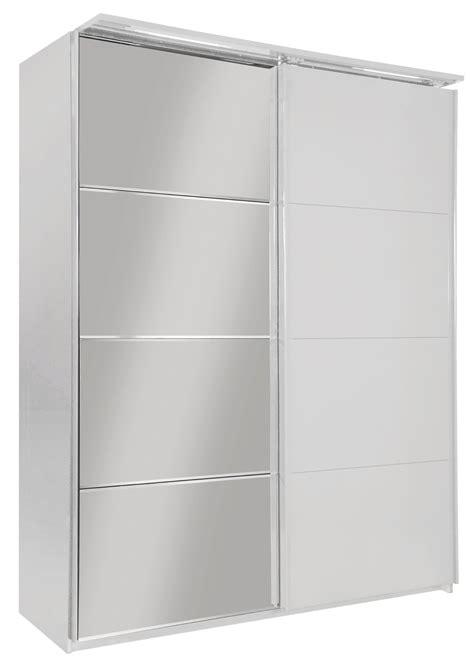 armoire de chambre adulte armoire design 2 portes coulissantes avec éclairage laquée