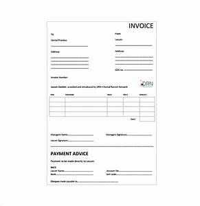 dental receipt template 5 free word excel pdf format With dental invoice template pdf
