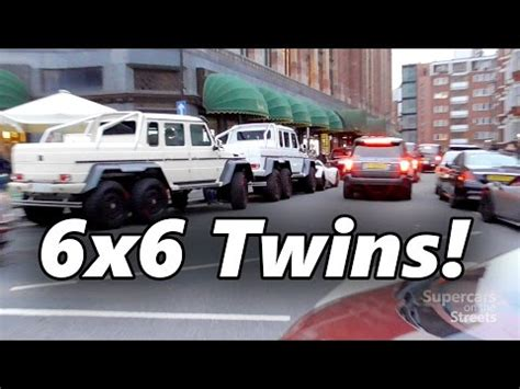 Explore the amg g 63 suv, including specifications, key features, packages and more. Supercars in London - May 2014 - Veyron, Brabus 6x6, Ma... | Doovi
