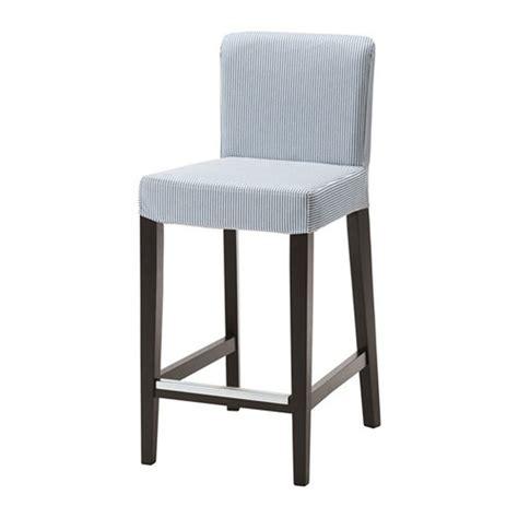Ikea Henriksdal Remvallen Blue White Bar Stool Slipcover