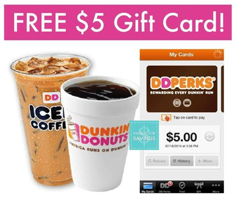 Free $5 Dunkin Donuts Gift Card