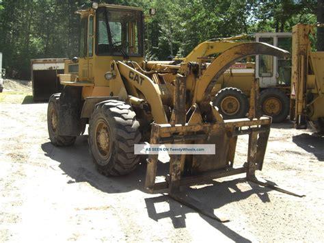 caterpillar wheel loader 926e 1988 cat caterpillar 926e loader with forks log grapple