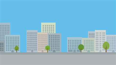 City Animated Wallpaper - modern city background animated backdrop with flat