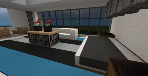 nice modern house   insane pool  minecraft project
